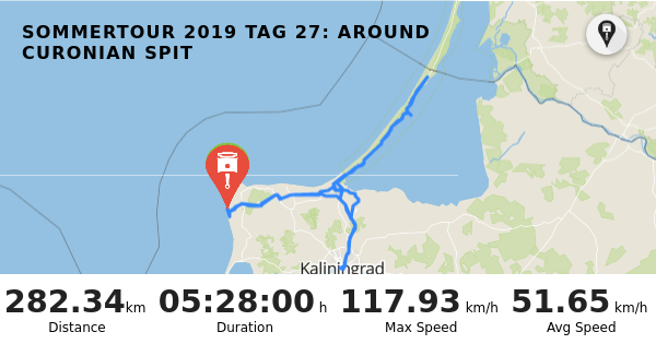 RISER - Trip: Sommertour 2019 Tag 27: Around Curonian Spit
